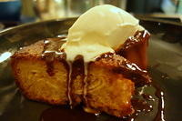 Kouign amman, baked apple, butterscotch & creme fraiche